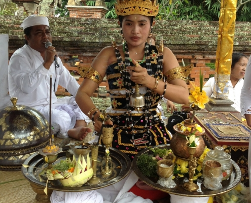 Bali's youngest high priestess